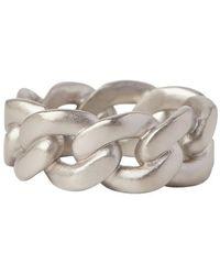 Maison Margiela Curb Chain Ring - Grijs