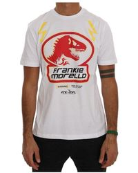 Frankie Morello Cotton Crewneck T-shirt - Wit