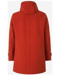 Herno Wool Coat Naranja