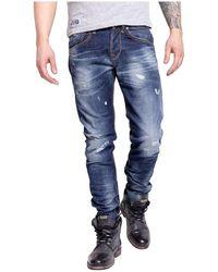Pepe Jeans Jeans ajusté sestroy Pm2014570 Cave - Blu