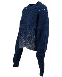 Roy Rogers Sweater Mohair Blades A20Rnd511C753 - Bleu