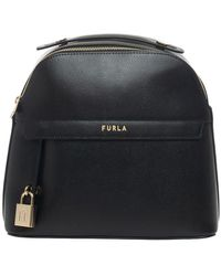 Furla Piper Leather Rucksack - Zwart
