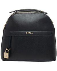 Furla Piper Leather rucksack - Nero