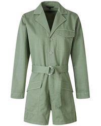 J Brand Linen cargo jumpsuit - Verde