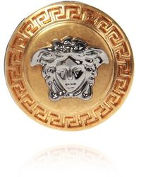 Versace Ring Met Logo - Geel