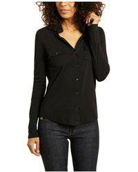 Majestic Filatures Clara cotton and cashmere shirt - Negro