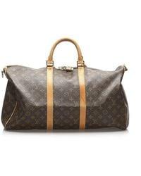 Louis Vuitton Monogram Keepall Bandouliere - Braun