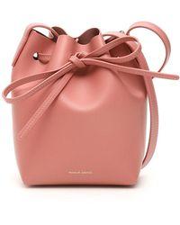Mansur Gavriel Mini Mini Bucket Bag - Roze