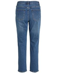Vila 7/8 Straight Jeans Azul