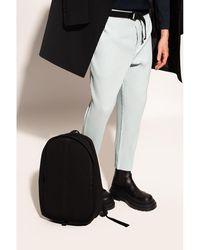 Issey Miyake Pleated backpack Negro