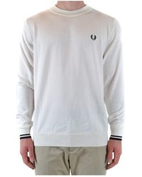 Fred Perry Trui - Wit