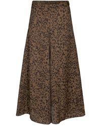 co'couture Leoli skirt A walnut - Marron