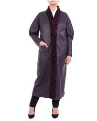 FEDERICA TOSI Fti20cp0870vpelle Long Coat - Paars