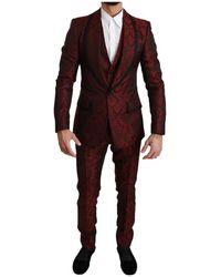 Dolce & Gabbana 3 Stuk Suit - Rood