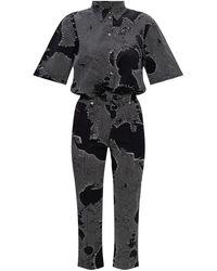 DIESEL Patterned Jumpsuit - Zwart
