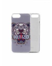 KENZO Iphone 8 Plus Case With Tiger Logo - Grijs