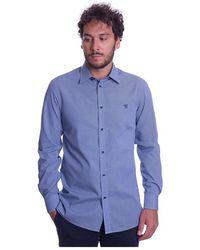 Trussardi Camicia A Quadretti Regular FIT - Blu