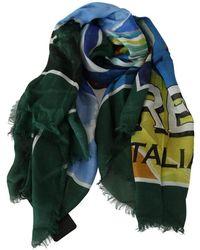 Dolce & Gabbana Modal Sorrento Wrap Shawl Sjaal - Groen
