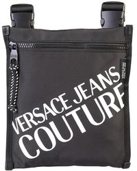 Versace Jeans Logo Print Shoulder Bag - Zwart