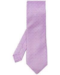 Etro Silk Tie - Paars