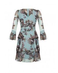 Rinascimento Floral Dress - Blauw