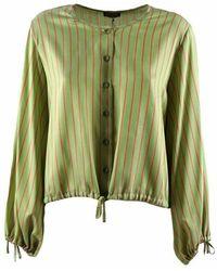 Maliparmi Camiciaa righe - Verde