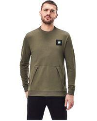 G-Star RAW Box Logo Pocket Tweater Combat Sweatshirt - Groen