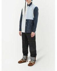 JW Anderson Logo Grid Turn UP Workwear Jeans - Noir