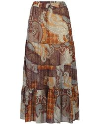 summum woman 6s1154-11187 Skirt Oriental Transparant - Bruin