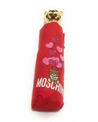 Moschino Ombrello Retraibile Open / Close Ballons Bear O20mo24 - Rood