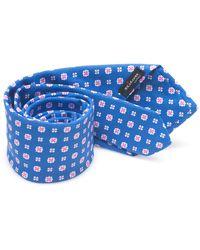 Kiton Bicolored Tie - Blauw