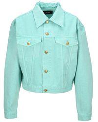 we11done Denim Jacket - Verde