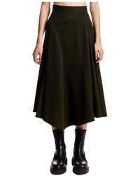 JW Anderson Seamed Spiral Skirt - Vert