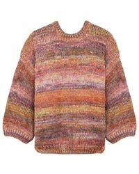 Mes Demoiselles Moon Wool Multicolour Sweater - Roze