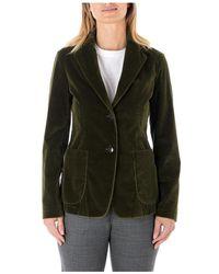 Barena Satin Velvet Jacket - Vert