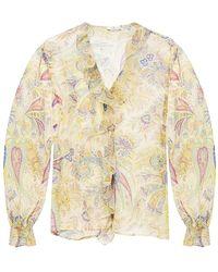 Etro Floral-printed shirt - Giallo