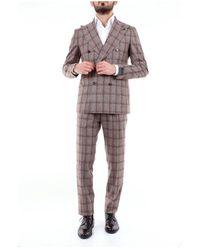 Tagliatore Double-breasted Suit - Bruin
