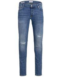Jack & Jones Slim Fit Jeans Glenn Icon Am 929 50sps - Blauw
