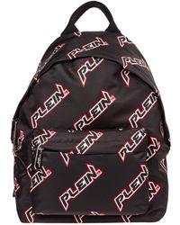 Philipp Plein Men's Nylon Rucksack Backpack Travel Space Plein - Zwart