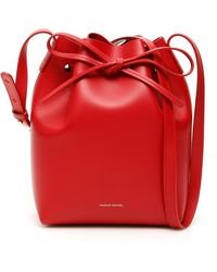 Mansur Gavriel Mini Bucket Bag - Rood