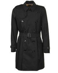 Burberry The Kensington Heritage Trench Coat - Zwart