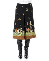 Vivetta Wood Fantasy Skirt - Noir