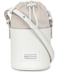 Maison Margiela 5ac Mini Bucket Bag - Wit
