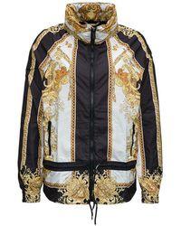 Versace Jacket With Medusa Renaissance Print - Zwart