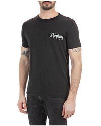 Replay Tshirt Blackboard - Zwart