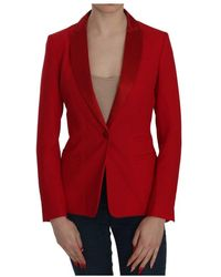 Dondup Single Breasted Long Sleeve Formal Jacket Blazer - Rood