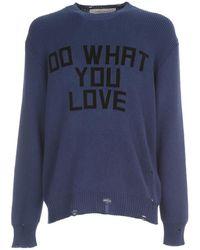 The Attico Sweater Darrel Flock Print - Blau