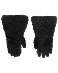 Dolce & Gabbana Shearling Fur Gloves - Grijs