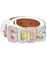 Gcds Tie Dye Belt H Logo - Wit