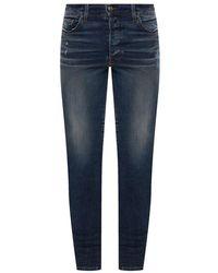 Amiri Distressed Skinny Jeans - Blauw